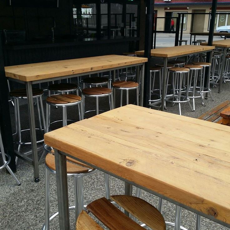 Bar Height Reclaimed Wood Table Tops ...