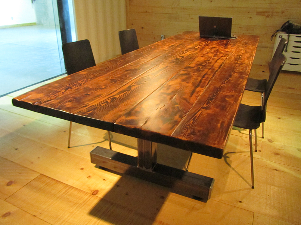 Conference Table reclaimed wood. Creative Build   Conference room table